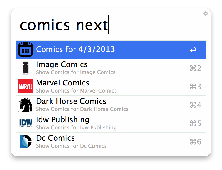 Next Weeks Comics